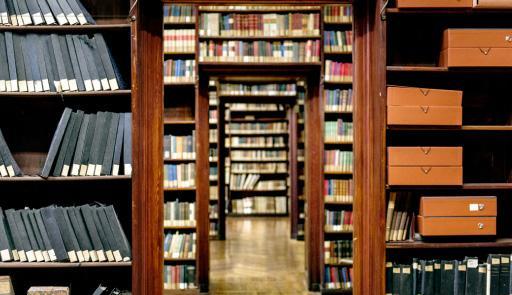 Immagine di una biblioteca