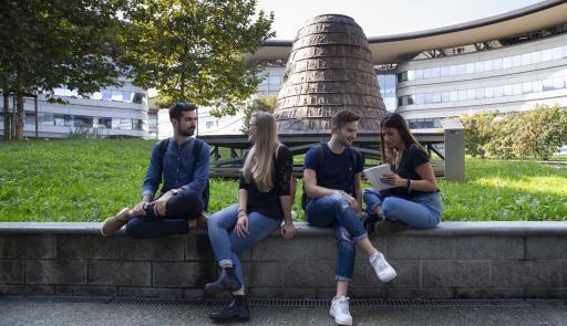 Students at Campus Luigi Einaudi