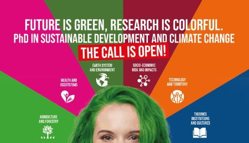 Flyer of the PhD in National Doctorate in Sustainable Development and Climate Change