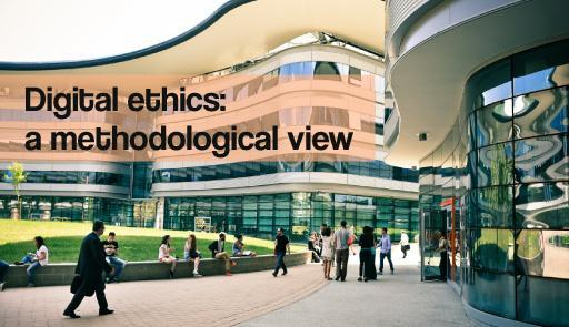 Immagine del Campus Luigi Einaudi e testo: Digital ethics: a methodological view.