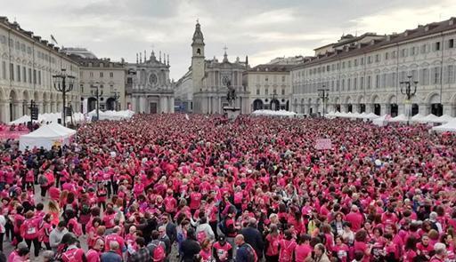 people in Piazza San Carlo